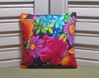 Flowers, lavender sachet, bright and colorful, lavender pillow, scented drawer sachet, filled with 100% dried lavender for a lovely scent