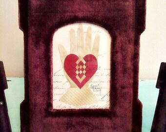 Heart in Hand Love Token, Anniversary, Wedding, Engagement, Friendship, Valentine - B
