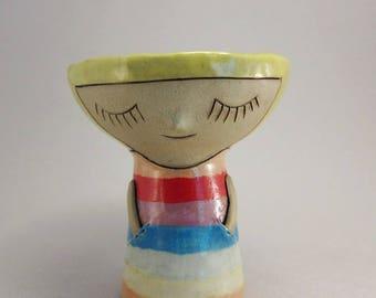 Silent Sister in Rainbow Dress