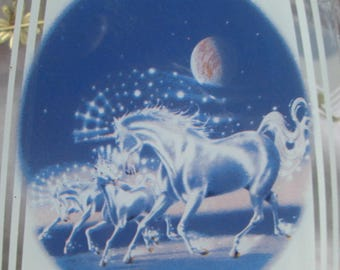The Most Kitschtastic Unicorn Lamp Shade in all the Land Glass