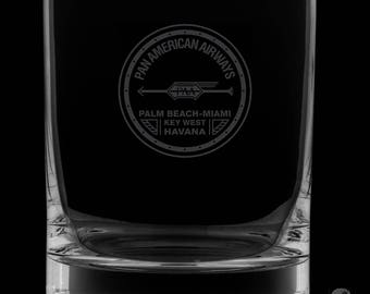 Pan American Airways 13 Ounce Personalized Rocks Glass