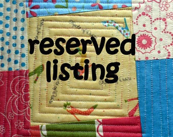 RESERVED FOR JOAN 11 Unfinished Quilt Tops plus yardage (August Order)