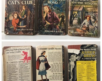 Trio of 1940's and 1950's Judy Bolton Mysteries by Margaret Sutton. Two 1st Ed