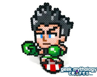Little Mac - Punch Out - Super Smash Bros Nintendo - Perler Bead Sprite Pixel Art Figure Stand or Lanyard Necklace
