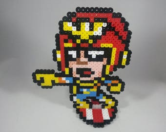 Captain Falcon - F-Zero - Super Smash Bros - Perler Bead Sprite Pixel Art Figure Stand or Lanyard Necklace
