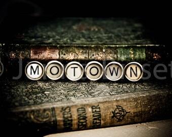 MOTOWN Vintage Typewriter Keys Fine Art Photographic Print on Metallic Paper