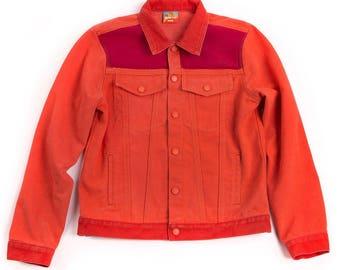 Men's Red Denim Jacket
