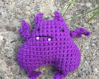 Fat Bat 100% cotton Amigurumi stuffed animal