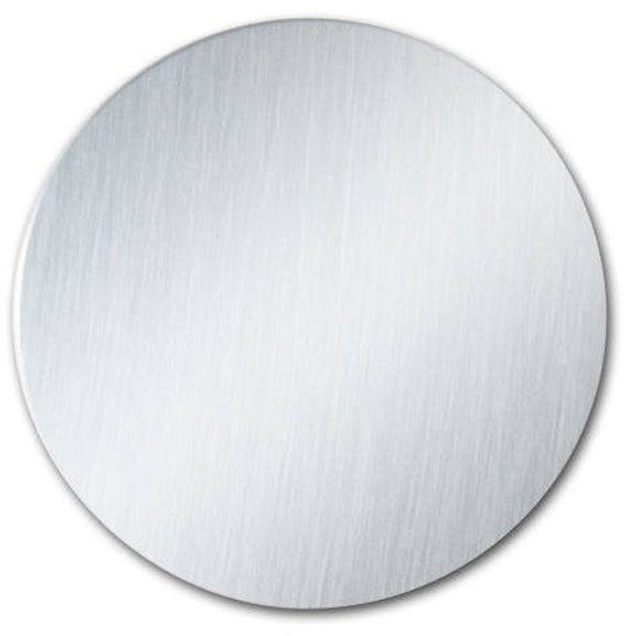 """1 - 3"""" Ornament Disc Blank with 22 Gauge Shiny Anodized Aluminum with PVC Protective Film"""