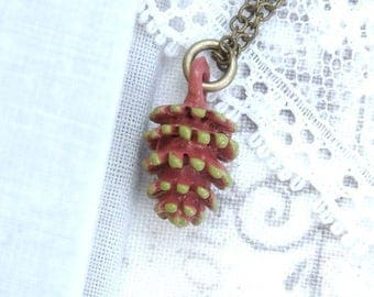 Pine Cone Charm Necklace Nature Necklace Pine Cone Gift Woodland Necklace Cone Jewelry Forest Necklace