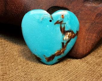 Eye-catching Bornite & Blue Turquoise Heart