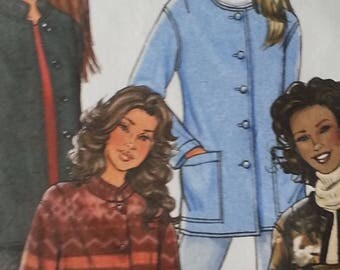 Butterick B4293 Misses Jacket Pattern Fleece Jacket Pattern Misses size 4 to 14