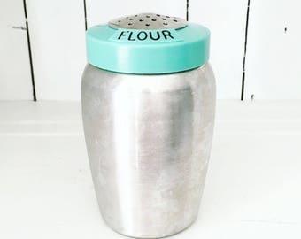 Kromex Turquoise Flour Shaker
