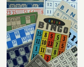 ONSALE Vintage Bingo and Lotto cards A Dozen More Choices