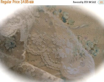 ONSALE Vintage Wedding Lace 2 Yards Scrumptious Bridal Netted Lace