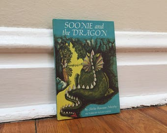 Dragon Book Vintage Children's Blue Hardcover Soonie and the Dragon