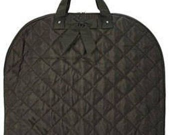 Personalized Quilted Garment Bag Dance Ballet Cheer Pageant Solid Brown