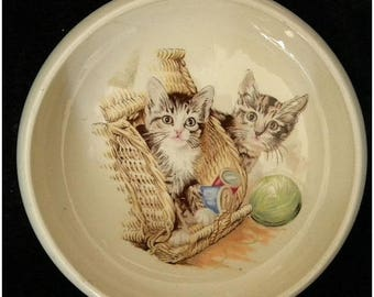 Vintage Porcelain Kitten Dish Darling Dutch