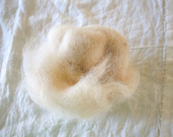 Alpaca and Wool cloud roving