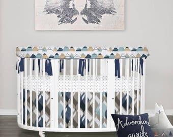 Custom Crib Bedding// Stokke Bedding // NEW American Adventure // 100%  Cotton // Choose your fabric // Choose your trim