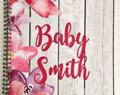 Pregnancy planner, pregnancy journal, pregnancy planner, personalized pregnancy gift, expecting mom gift, baby on the way, pregnancy album