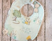 Easter Bunny Baby Gift Babys First Easter New Baby Easter Basket Easter Baby Bib Neutral Baby Bib Bunny Bib Rabbit Baby Bib Neutral Bib