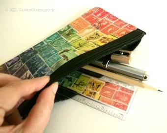 Rainbow Pouch Gift Set - Pencil Case inc. Desk Essentials Kit