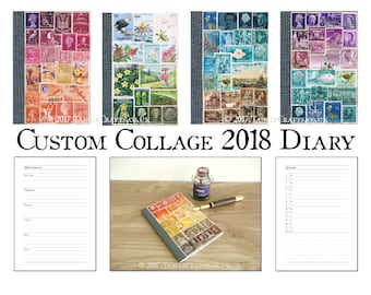 Upcycled Postage Stamp Art Notebooks Amp Travel By Tanglecrafts