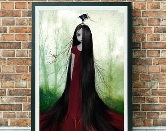 Rapunzel Art Print - Rapunzel - Fairytale Art Print - Fairytale - A3 Art Print - Wall Decor