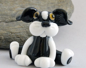 MOGPUP, Glass Dog/Cat Hybrid Bead,  Glass Sculpture Collectible, Focal Bead, Pendant, Izzybeads SRA