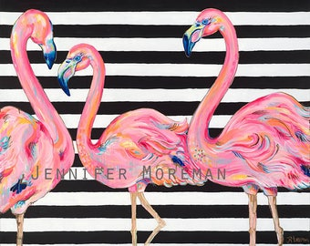 Pretty in Pink Flamingo Canvas Gallery Wrap Print