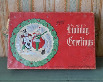 Vintage Hardie's Christmas Candy Box Pittsburgh PA