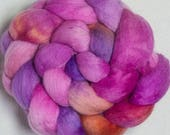 Hand dyed top, Falkland, Corino,  dyed combed top, Falkland Merino, Corriedale, spinning wool, felting projects, fibre, Handspinning
