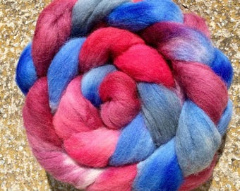 Heritage breed, felting materials, dreads wool, Hand dyed Scottish Down,hand dyed roving, combed top, Handspinning, Kintyre