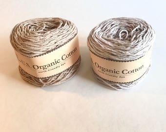 Organic Cotton Yarn - Appalachian Baby Design Organic cotton baby sport weight yarn - Cream, Pink, Blue, Silver, Doe yarn