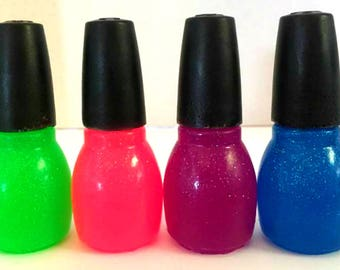 Nail Polish Bottle Soap - Set of 4 - Makeup Soap, Beauty Soap, Party Favors, Gift for Daughter, Granddaughter - Free U.S. Shipping