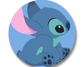 "Stitch Disney 1.25"" Button Badge Fan Art Lilo Cartoon"