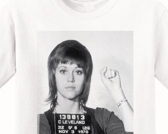 Jane Fonda's Mugshot 1970 Men's T-Shirt
