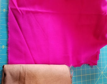 Jewel Tone Fuschia Pink Wool Challis just over 3yd
