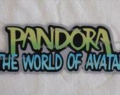 DISNEY Pandora World of Avatar Die Cut Title - Scrapbook Page Paper Piece Piecing - SSFF