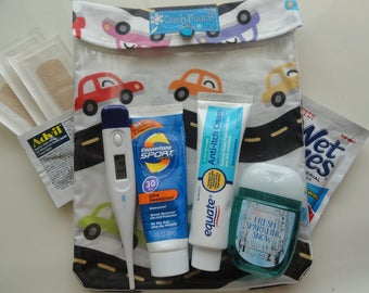 Cars Ouch Pouch First Aid Kit for Baby Boy Diaper Bag Travel Tote Kids School Supplies Boo Boo Bag Hospital Gift Large 6x8