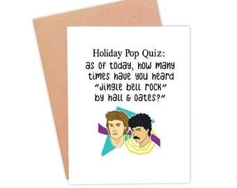 Funny Hall and Oates Christmas Card | Funny Holiday Card | Jingle Bell Rock Card - Hall & Oates