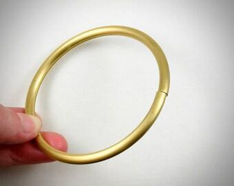 3 tube BANGLE bracelet cuff jewelry embellishment. Raw Brass  (T200)