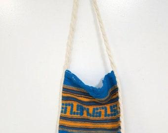 40% OFF The Ethnic Blue & Yellow Guatemalan Shoulder Bag