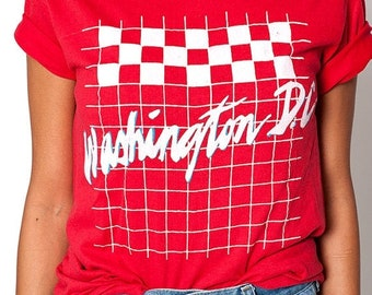 40% OFF The Red Vintage Washington DC Super Soft 50/50 Tee