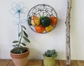 Medium Size Round Wall Basket With double twisted wire Rim