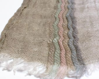 Linen Scarf/ 100% Linen Shawl/ Grey Linen Scarf/ Long Linen Scarfs/ Mens Womens Scarves/ Large Bohemian Scarf Wrap/ Pure Flax Blanket Scarf