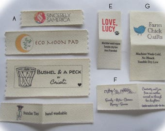 Custom Clothing Labels-Using your logo-Sew In