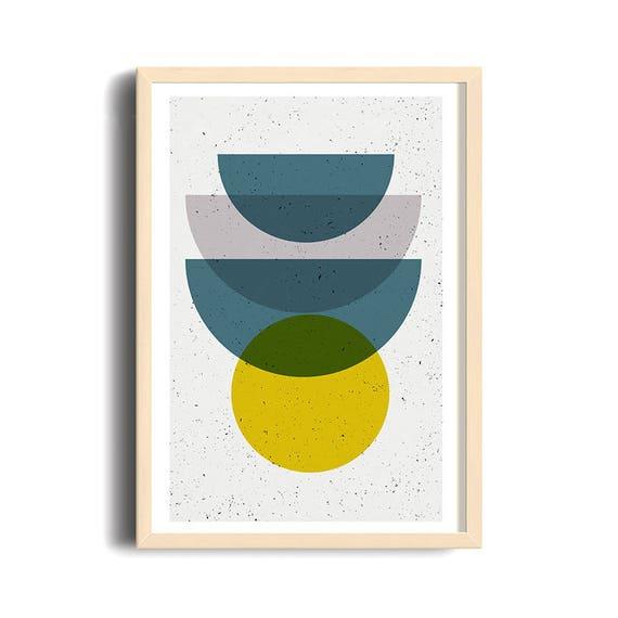 MID CENTURY MADNESS // Poster Abstract art, 12x18, minimalist art print, geometric print, mid century, Scandinavian style