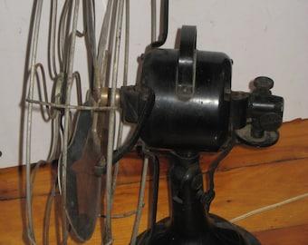 """Vintage Table Fan SIGNAL large 17"""" electric fan Cast Iron Base 3 speed Oscillating Fan"""